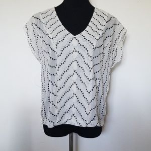 Charlotte Russe White and black blouse
